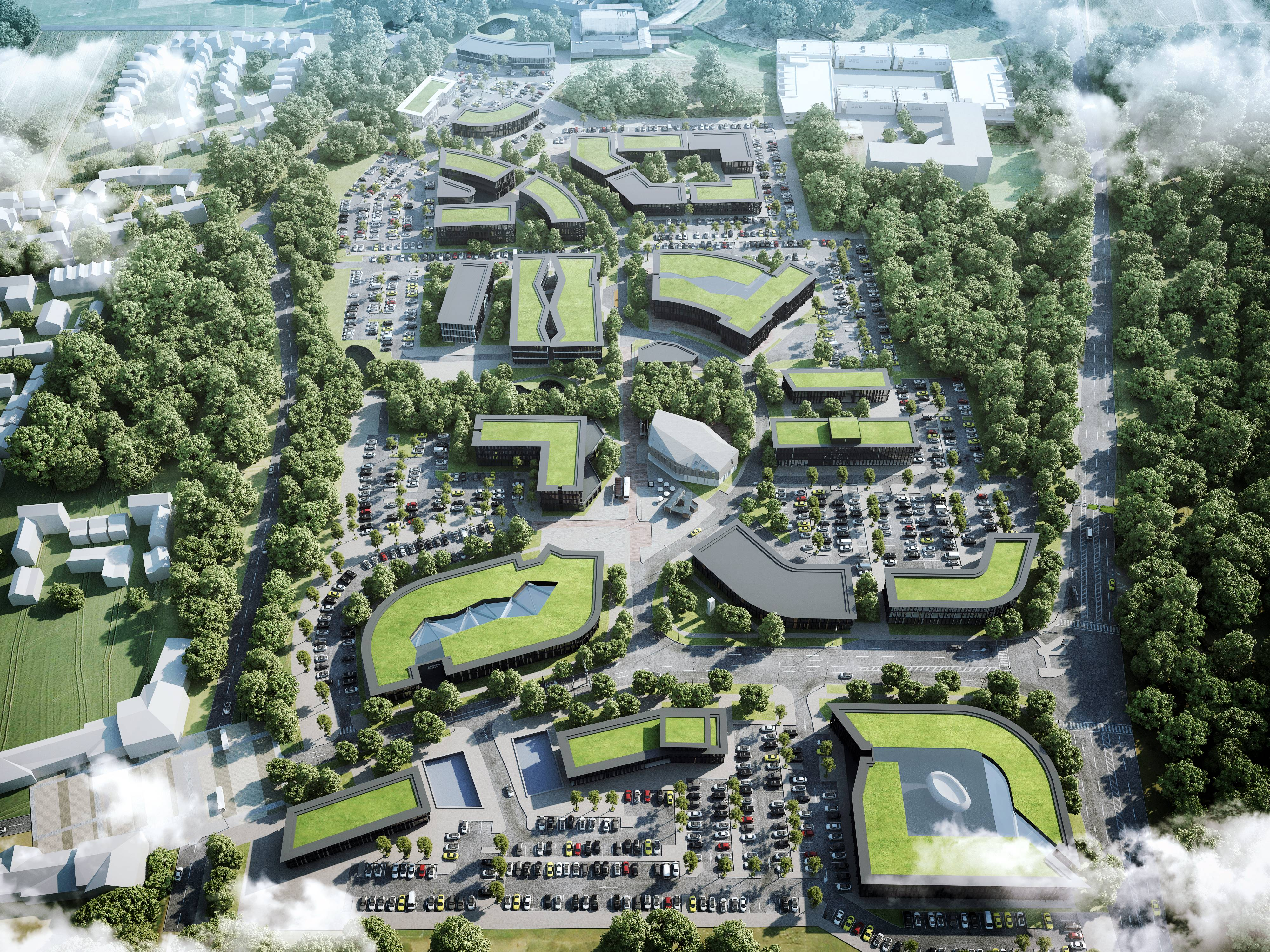 Concept Masterplan Aerial